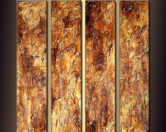ORIGINAL Textured Brown white Modern Abstract Art on Canvas Ready to Hang By Henry Parsinia