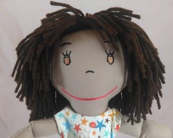 Handcrafted Rag doll, Rag Dolls, Cloth Doll, Plush Toy, Soft Doll, Fabric Doll, Stuffed Doll, muñeca de trapo