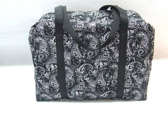 Sizzix Big Shot Carrying Case / Big Shot Tote / Big Shot Carrying Bag / Black and White Paisley Print Carrying Case for Big Shot Machine
