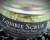 Zombie Scrub ® - Removes Dead Skin - Exfoliating Sugar Scrub - 4 Ounces