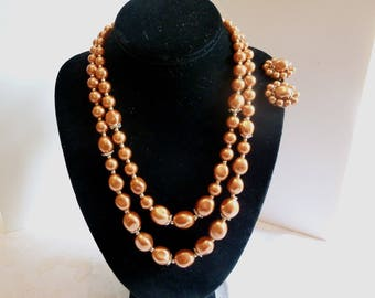 Necklace and earrings set demi parure beautiful color