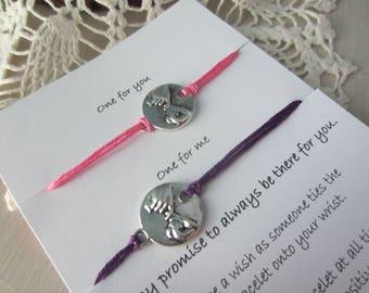 Pinky promise wish bracelets