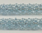 Reserved for Becky P., Tom's lampwork pale aquamarine urchin beads,  4 bead set, 2 pair,  95766