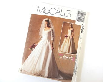Wedding Dress Pattern McCalls 3455 by Alicyn Exclusives, Size 6, 8, Bust 30.5, 31.5 Inches