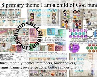 bundle 2018 LDS primary I am a child of God