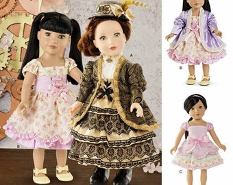 18 inch Doll Clothes Pattern, 18 inch Doll Dress Pattern, Simplicity Sewing Pattern 8112