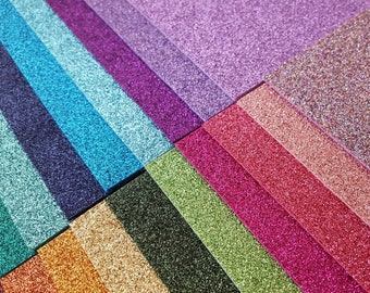 Sparkly Glitter Felt - You Choose Colour/Size (Priced per Sheet)