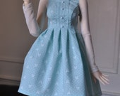 Blue dress with bows and dots for F60 and minifee (PREORDER)