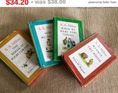 Set Of 4 Winnie the Pooh by A A Milne Children's Books 1961 Mid Century Books Decor 1961