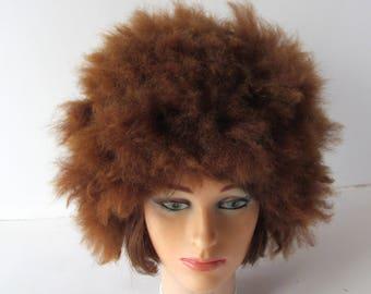 Felted hat Brown Alpaca hat Beige Brown animal hat Felt warm hat Brown Wool Hat Winter Warm felt hat outdoors gift Alpaca animal hat