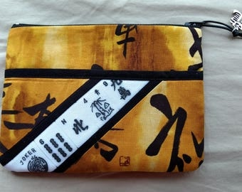 Mah Jongg, Mah Jong, Mahjong Asian Fabric Purse