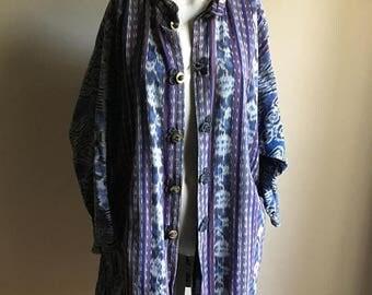 SUMMER SALE Rare 70s Cotton Free Size IKAT Jacket