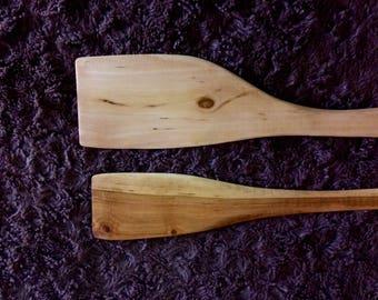 Hand Carved Cherry Wood Spatula Set