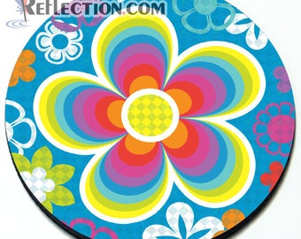 Groovy Flowers - Magnetic Grill Badge for MINI Cooper