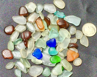 Beach Glass  Sea Glass of Hawaii beach COBALT! SALE! 75Jewelry quality 4 drilling! Bulk Sea Glass! Genuine sea glass Seaglass Sea Glass Bulk