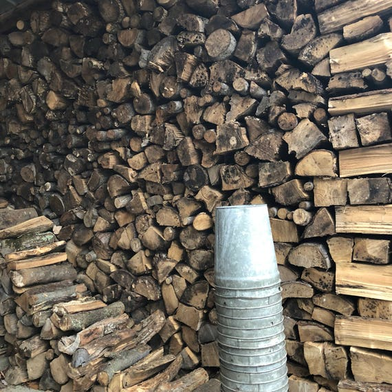 rustic, galvanized metal Vermont maple sap buckets
