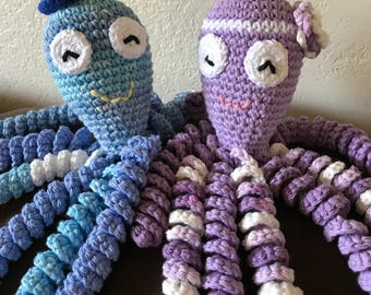 Crochet Octopus for Preemie Babies, Crochet Octopus Preemie Baby Comfort Toy, Therapeutic Octopus, Newborn Octopus, Easter gifts for babies