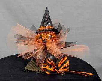 Jack O Lantern Halloween Decoration, Jack O Lantern Decor, Halloween Mantel, Halloween Party, Halloween Black Cauldron