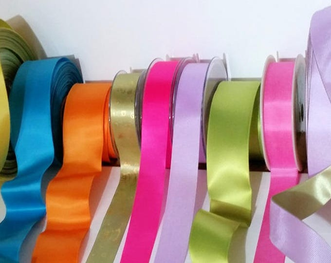 Ribbon Assortments, Promo Offer, SALE Summer Sorbet colors, Made in England 1-1/2 inch width (38 mm) woven edge 15 ft roll