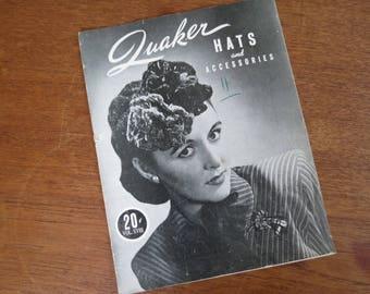 1940s Crochet Magazine - Quaker Yarn Co. Hat & Accessories Pattern Book