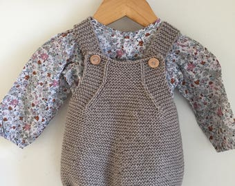 Knitted Baby Romper