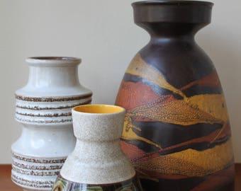 Vintage Large Haeger Pottery Vase, Germany, Mid Century Modern, German Pottery