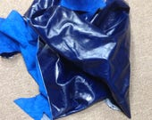 6-853.  Blue Leather Cowhide Partial
