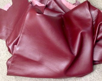 6-861.  Burgundy Leather Cowhide