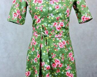 Custom listing for Melanie: 1940s style  shirt dress