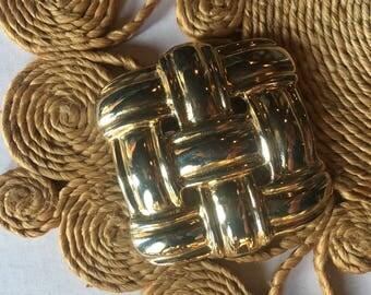 Vintage Brass Gold Belt Buckle