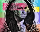 George Washington Pop Art - #2 - canvas giclee