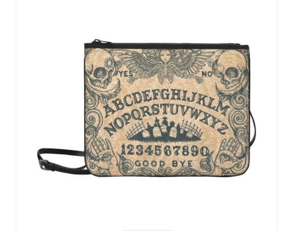 Ouija Board Angel of Death Clutch with Shoulder Strap