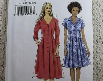 ON SALE Vogue 8970, Misses' Dress Sewing Pattern, Very Easy Dress Pattern, Easy Sewing Pattern, Misses' Size 16, 18, 20, 22, 24, Uncut