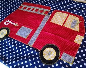 Fire Truck Pillow Case, Firetruck Bedding, Standard Size, You Choose the Colors