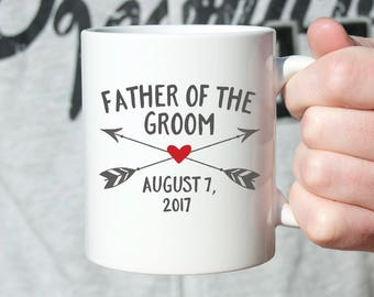 Father of the Groom Gift from Groom Father of the Groom Gift from Son Father of the Groom Wedding Gift for Dad Wedding Gift Ideas Mug Arrows