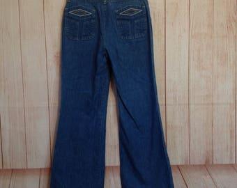 Vintage 70s h.i.s. Bellbottoms Jeans Ladies 30 X 28 Boho Hippy Style Pants