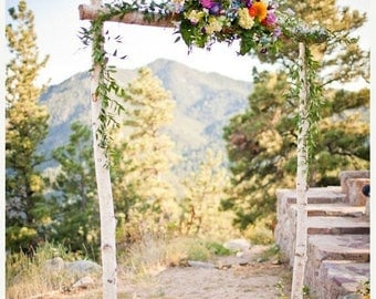 2 DAY SALE Birch Wedding Arch/Arbor with Support Boxes