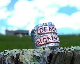 Sterling & Copper Mothers Ring