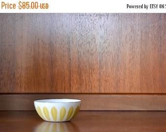"CIJ SALE 25% OFF vintage midcentury modern enamel 4"" cathrineholm lotus bowl"