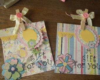 Party favor bags with tags paper gift bags candy treat paper sacks pocket floral gift bags birthday supplies gifts packaging Hostess gift