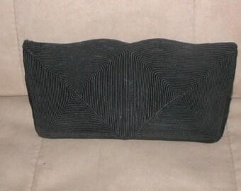 Vintage 1940's genuine Corde Black Clutch Purse