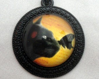 Fall Jewelry - Black Cat Necklace - Cat Jewelry - Kitty Jewelry - Cat Lover Gifts - Gift for Cat Lover - Halloween Jewelry - Halloween Gift