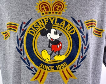 1980's Gray Mickey Mouse Disneyland T-Shirt, Size Extra Large, Made in USA