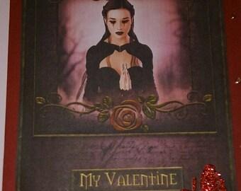 Carte de fête gothique Saint-Valentin