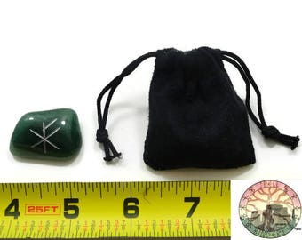 Wealth Rune Pocket stone with pouch