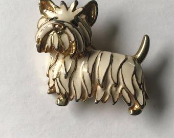 Sweet Vintage Scottie Dog Brooch