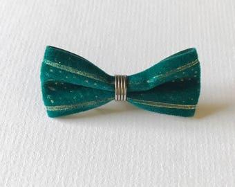 Vintage Velvet Bow Brooch