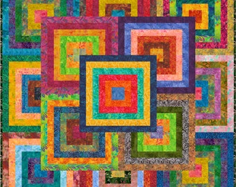 """NEW - KANAWA - Batik - Double 73"""" x 73"""" or  Lap 55"""" x 55"""" - Quilt-Addicts Pre-cut Quilt Kit or Finished Quilt"""