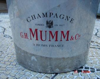 Vintage G.H. Mumm & Cie. a Reims France Champagne Bucket  - French Retro Barware