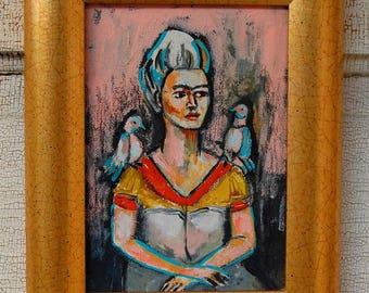 Frida 5x7 with frame